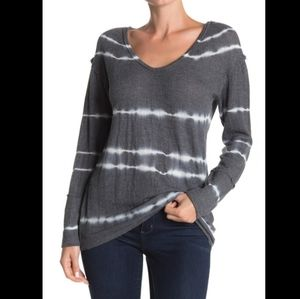 C & C CaliforniaTie Dye Stripe Lace Panel Long S